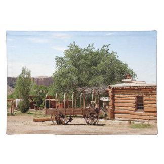 Old wagon, pioneer village, Utah Placemat