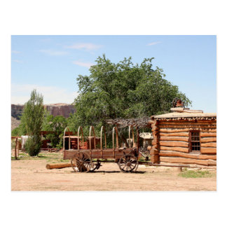 Old wagon, pioneer village, Utah Postcard