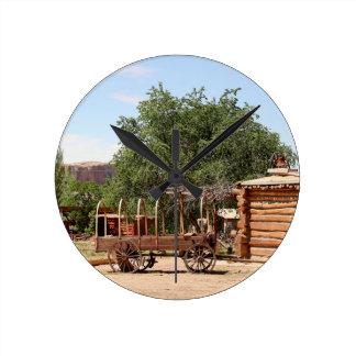 Old wagon, pioneer village, Utah Round Clock