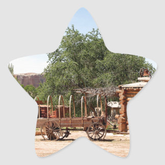 Old wagon, pioneer village, Utah Star Sticker