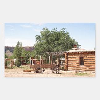 Old wagon, pioneer village, Utah Sticker