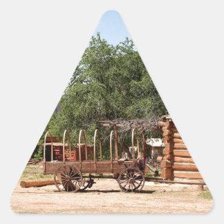 Old wagon, pioneer village, Utah Triangle Sticker