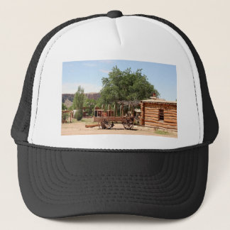 Old wagon, pioneer village, Utah Trucker Hat