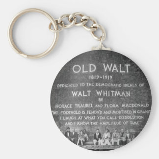 Old Walt Basic Round Button Keychain