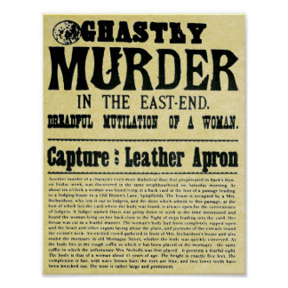 old wanted poster ghastly murder replica from 1888