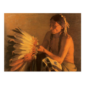 Old War Bonnet by Joseph Henry Sharp Postcard