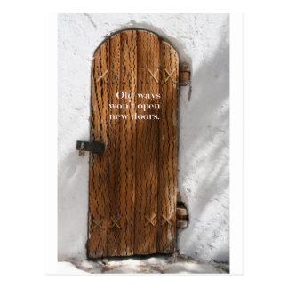 Old ways & New Doors Postcard