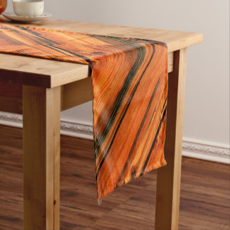old weathered diagonal barn boards short table runner
