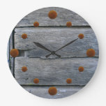 Old Weathered Wood Wall Clock