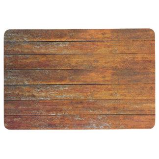 Old Weathered Wooden Flooring Floor Mat