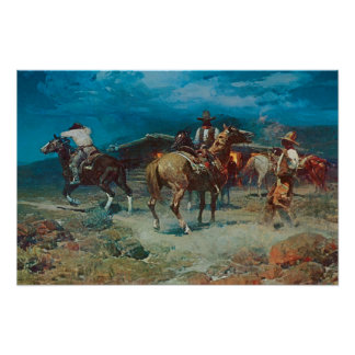 Old West 1922 Pony Express Art Print Poster