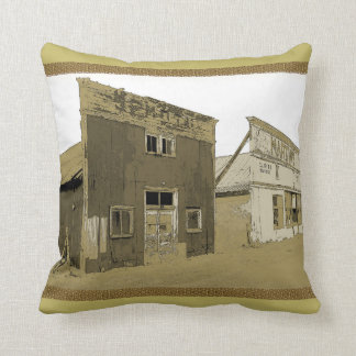 Old West Buildings Throw Pillow