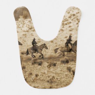 Old West Cowboys Riding Bib