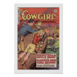 Old West Cowgirl Romamce Ad Art Print Poster