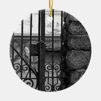Old West End Edward D Libbey House's Gate Ceramic Ornament