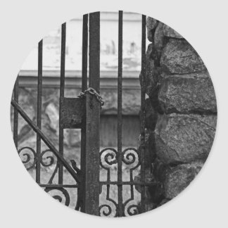 Old West End Edward D Libbey House's Gate Classic Round Sticker