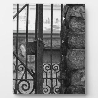 Old West End Edward D Libbey House's Gate Plaque