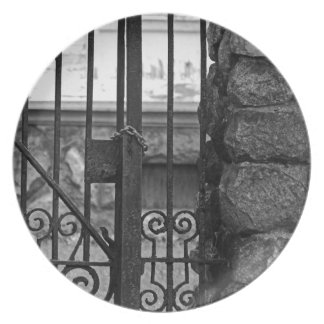 Old West End Edward D Libbey House's Gate Plate