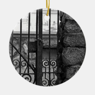 Old West End Edward D Libbey House's Gate Round Ceramic Ornament