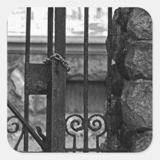 Old West End Edward D Libbey House's Gate Square Sticker