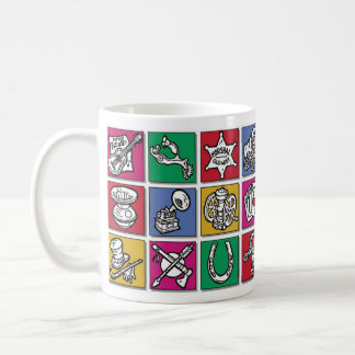 Old West Icons Basic White Mug