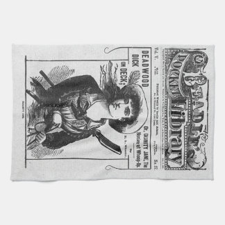 old west kitchen towel