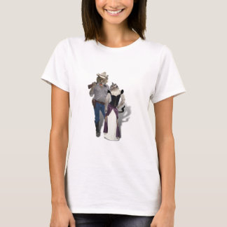 Old West 'Purrfect'  Cat Couple T-Shirt