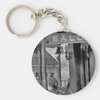 Old West Saloon Keychain