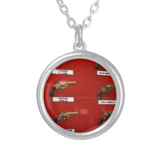 Old West Six-shooters Silver Plated Necklace