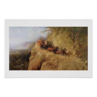 Old West Staging in California Art Print Poster