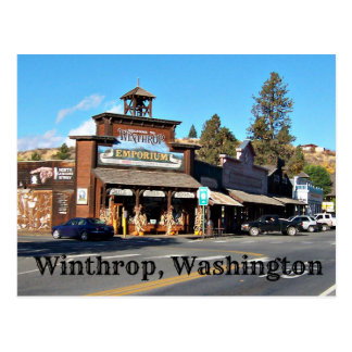 Old West Town of Winthrop, Washington Postcard