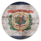 Old West Virginia Flag Plate