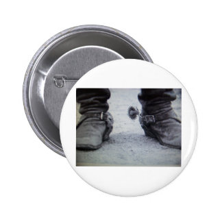 old western boot(Black&White photo) 2 Inch Round Button