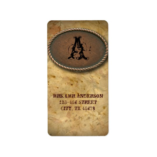 old Western Cowboy Country Wedding Address Labels