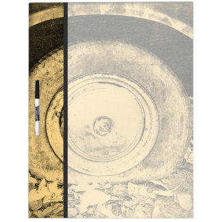 Old Wheel Of Classic Car Dry-Erase Board