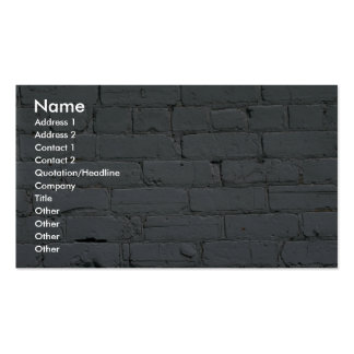 Old white brick wall business cards