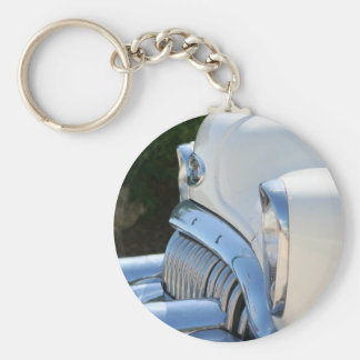 Old White Buick keychain