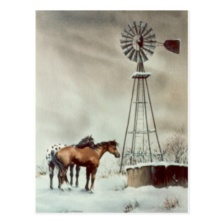 OLD WINDMILL by SHARON SHARPE Postcard