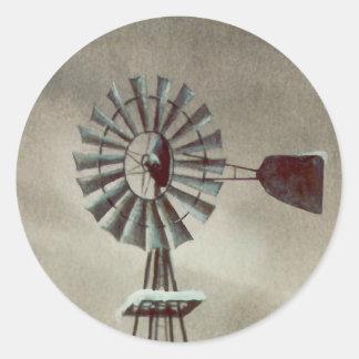 OLD WINDMILL by SHARON SHARPE Round Sticker