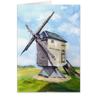 Old windmill card