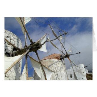 Old Windmills Olympos Karpathos, Greece Card