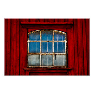 Old Window in Sweden Poster
