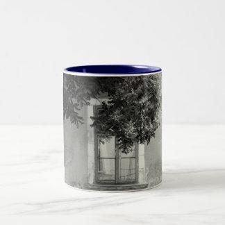 Old window Two-Tone coffee mug