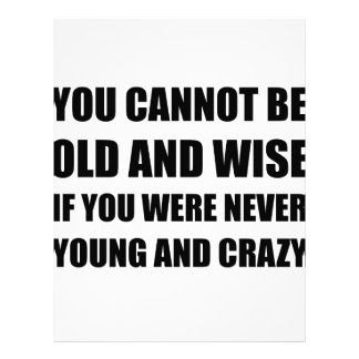 Old Wise Young Crazy Letterhead Design