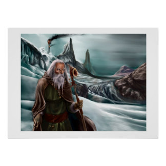 OLD WIZARD POSTER
