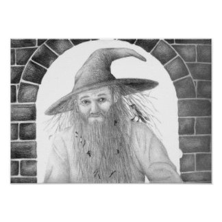 Old Wizard Print