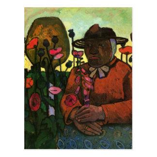 Old Woman in the garden by Paula Modersohn-Becker Postcard