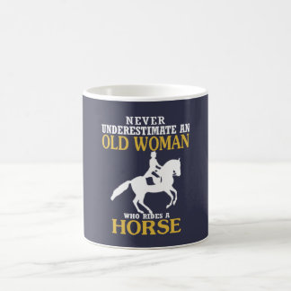 Old Woman Rides Horse Coffee Mug