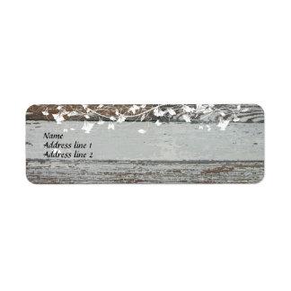 Old Wood Address Labels