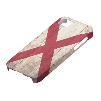 Old Wood Alabama Flag Case For The iPhone 5